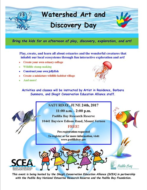 Watershed Art And Discovry Day Promotional Flier 2017