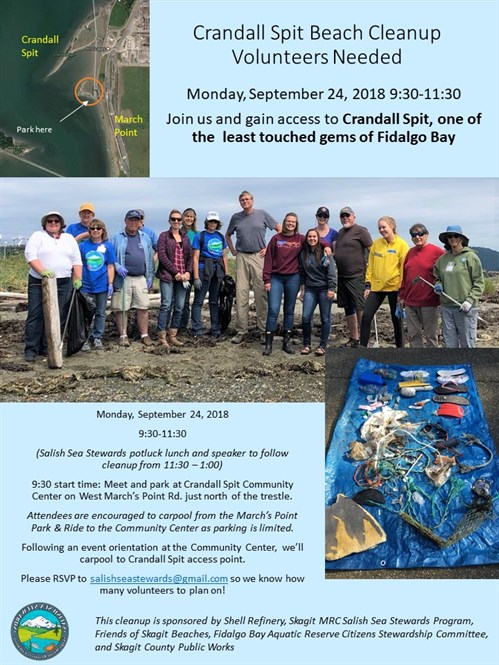 Crandall Spit Beach Cleanup